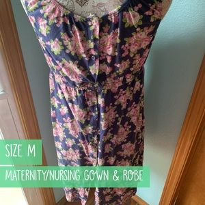 Baby Be Mine Intimates & Sleepwear - Maternity Labor/Delivery nursing gown and robe